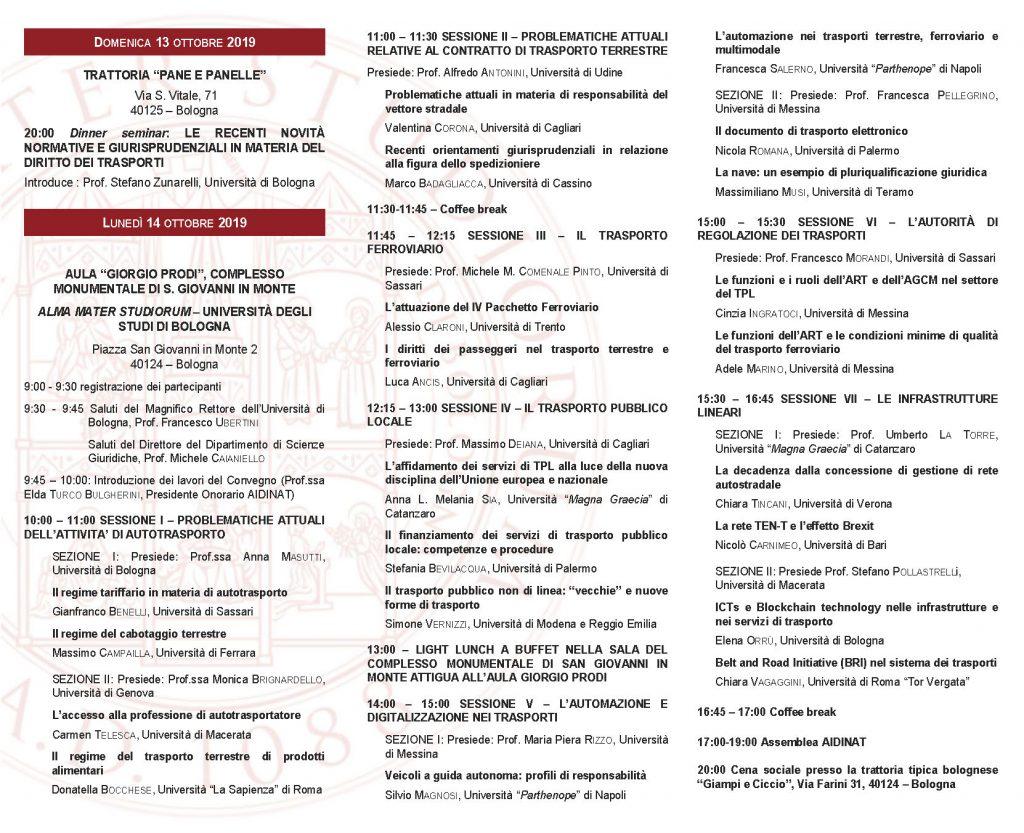 Programma Convegno Aidinat Roma